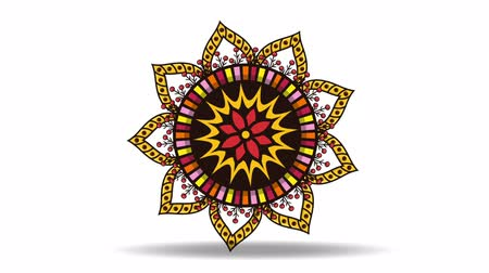ethnic mandala boho style ,hd video animation