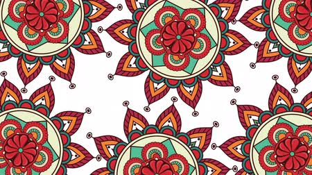 ethnic mandalas boho style pattern ,hd video animation