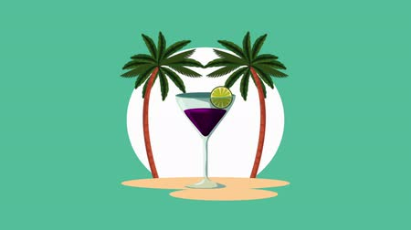 cítrico : fresh tropical cocktail cup , hd video animation