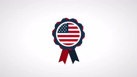 impressão digital : usa labor day celebration with medal ,4k video animation Stock Footage