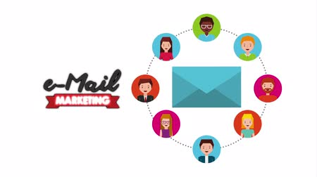 mailbox : community and envelope social media marketing , hd video animation