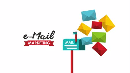 tebliğ : email social media marketing with mailbox, hd video animation