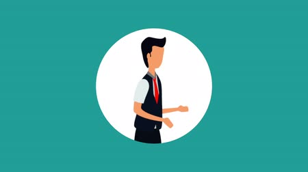 awatar : elegant businessman worker avatar character, hd video animation Wideo