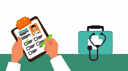 identifikace : doctors hands with order medical ,hd video animation Dostupné videozáznamy