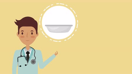 denied : professional doctor with healthy lifestyle ,4k video animation