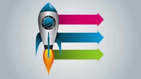 rocket launcher : rocket start up and launcher ,hd video animation