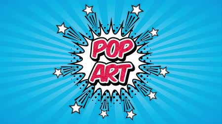comics pop : explosion pop art style ,hd video animation