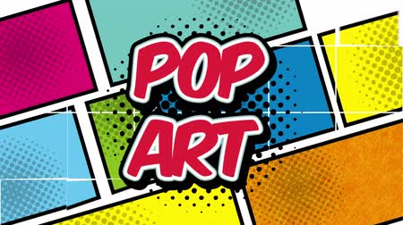 comics pop : squares colors pop art style ,hd video animation Stock Footage