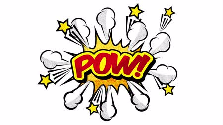 comics pop : explosion with pow word pop art style ,hd video animation Stock Footage