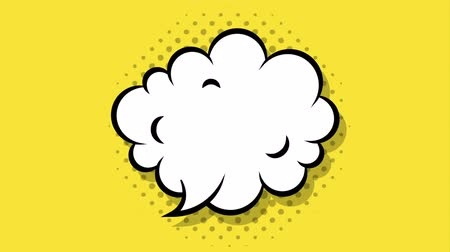 comics pop : cloud expression pop art style ,hd video animation Stock Footage