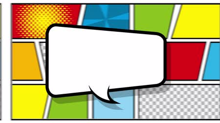 comics pop : speech bubble pop art style ,hd video animation