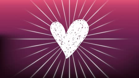 convite : valentines card with heart love ,hd video animation Vídeos