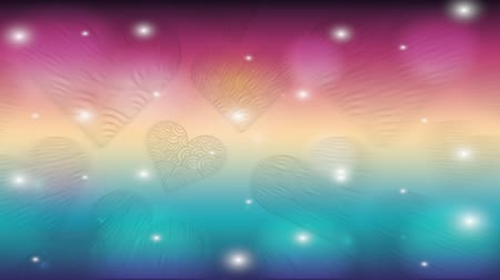amour : valentines card with hearts love pattern ,hd video animation Stock Footage