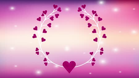 wieniec : valentines card with hearts love crown ,hd video animation