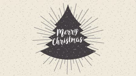 Новый год : happy merry christmas card with pine tree ,hd video animation