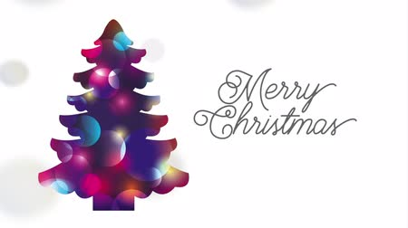 azevinho : happy merry christmas card with pine tree ,hd video animation