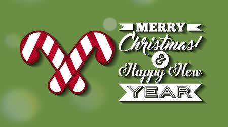 magyal : happy merry christmas card with sweet canes ,hd video animation