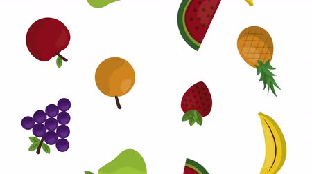cítrico : fruits fresh healthy food ,4k video animation