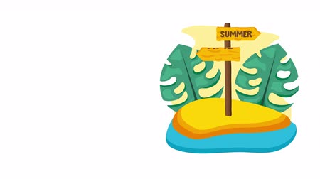 リーフス : summer time enjoy vacations,4k video animation footage vacation 動画素材