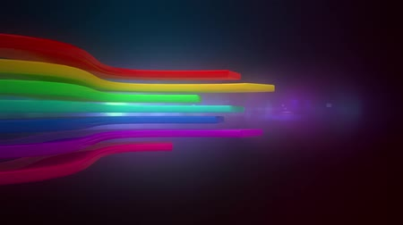 subtítulo : abstract background with colourful rainbow lines loop