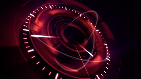 subtítulo : abstract background with rotating red clock, loop