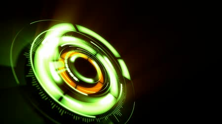 subtítulo : abstract background with rotating green lens, loop
