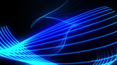 vonal : abstract blue neon lines background Stock mozgókép