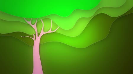 olive colored : spring tree graphic, loop Stock Footage