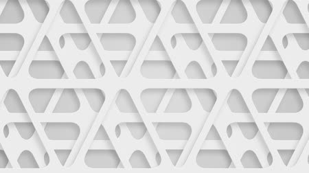 subtítulo : moving perforated white triangles, loop