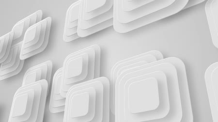 subtítulo : many white small squares moving from left to right, loop Stock Footage
