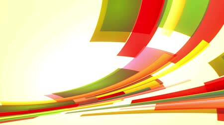 animation with colourful red and green lines going up from left to right, loop