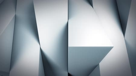 Background with white rotating vertical rectangular blocks, loop Stok Video