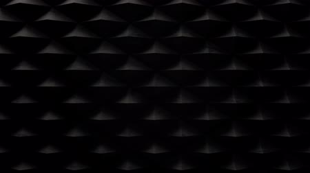 Dark motion background with moving wall of triangle pyramids 4K, loop Stok Video