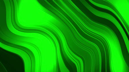 Background with animated bending green lines, 4K, loop Stok Video