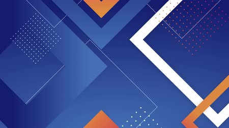 Blue background with geometric figures, 4K, loop Stok Video
