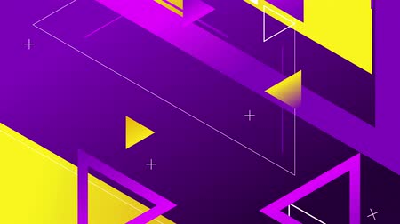 Blue and violet background with triangles, 4K, loop