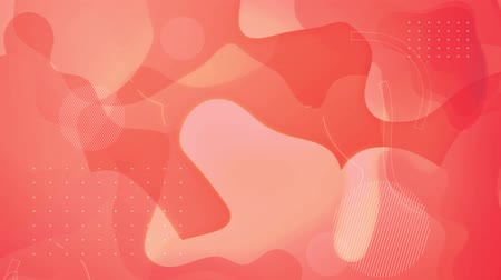 Pink and red background with fluid lines, 4K, loop