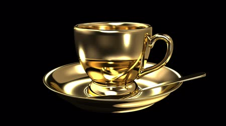 coffee time : Gold teacup