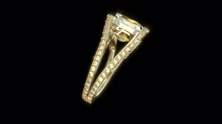 ring : Gold ring with diamonds