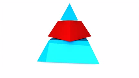 piramit : Three pieces pyramid Stok Video