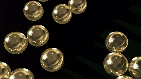 yuvarlanma : Huge gold spheres fill the space