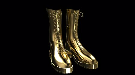 soldados : Gold boots Stock Footage