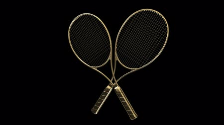 ракетка : Gold tennis rackets