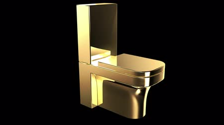 уборная : Gold flush toilet