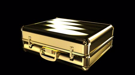 bagagem : Gold suitcase
