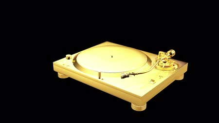 Gold stereo turntable