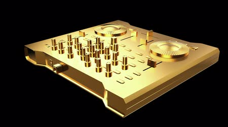Gold DJ Console workstation