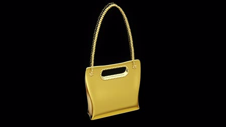 Gold trendy bag