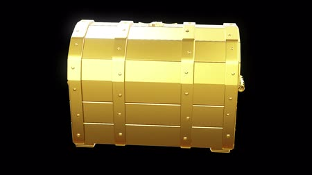 Gold chest with handles