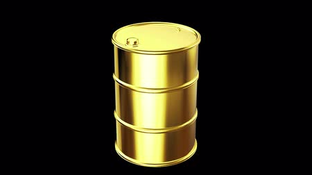 Gold oil barrel Stock Footage
